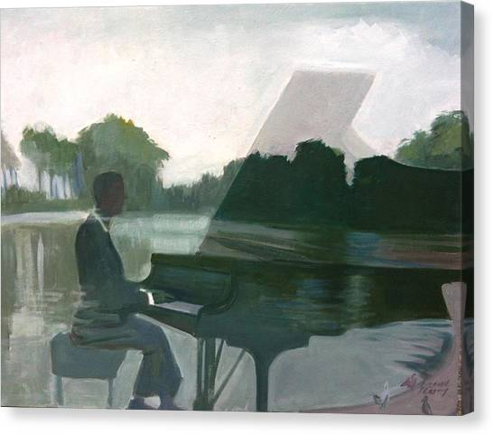 Justin Levitt Steinway Piano Spreckles Lake Canvas Print