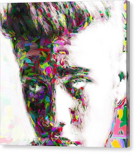 Hollywood Canvas Print - #justinbieber @justinbieber by David Haskett II