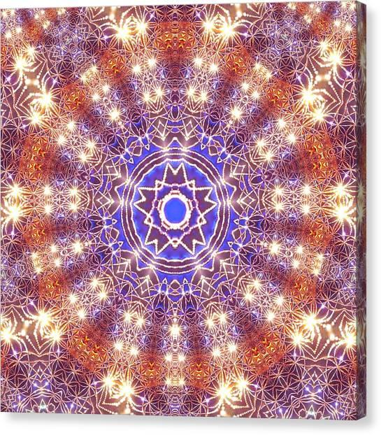 Canvas Print featuring the digital art Jyoti Ahau 10 by Robert Thalmeier