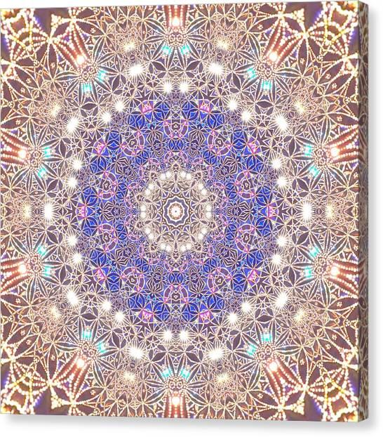 Canvas Print featuring the digital art Jyoti Ahau 8 by Robert Thalmeier