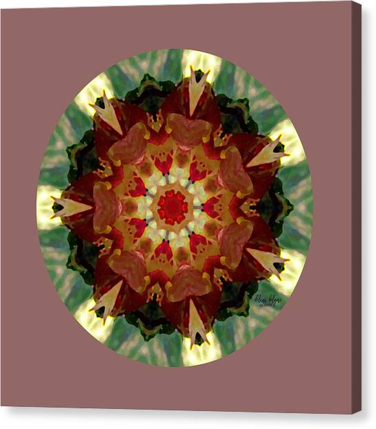 Canvas Print featuring the digital art Kaleidoscope - Warm And Cool Colors by Deleas Kilgore