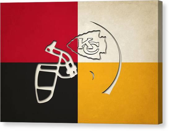 Kansas City Chiefs Canvas Print - Kansas City Chiefs Helmet by Joe Hamilton