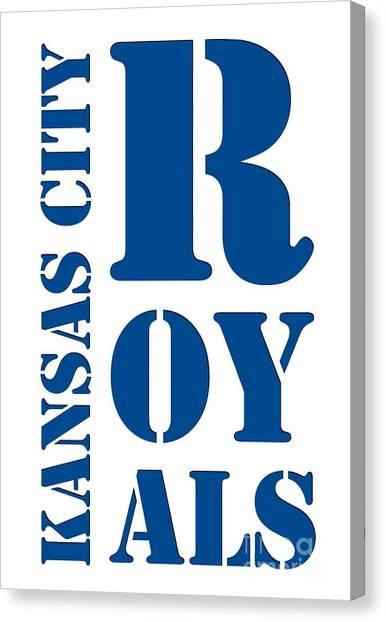 Kansas City Royals Canvas Print - Kansas City Royals Typography by Drawspots Illustrations