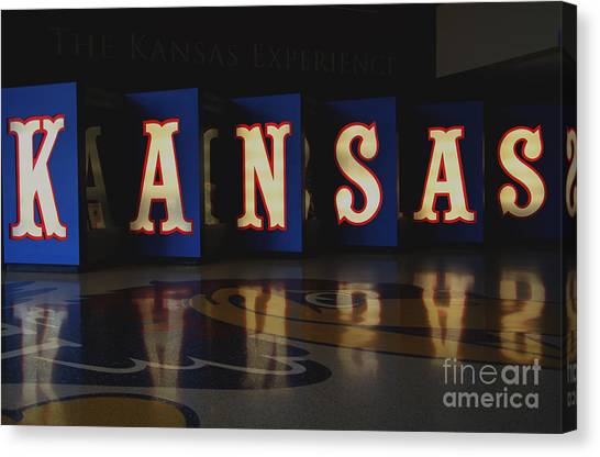 University Of Kansas Canvas Print - Kansas Reflected by Amy Steeples