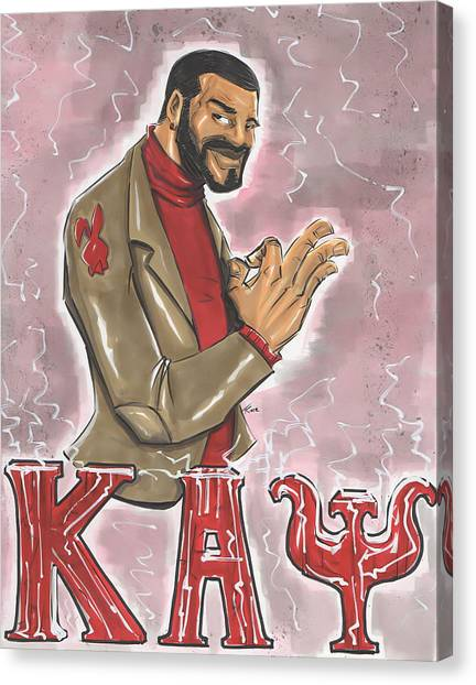Alpha Kappa Alpha Canvas Print - Kappa Alpha Psi Fraternity Inc by Tu-Kwon Thomas