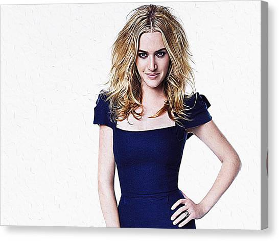 Jim Carrey Canvas Print - Kate Winslet by Queso Espinosa