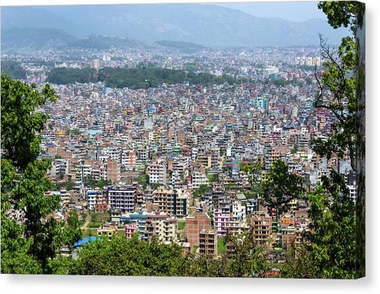 Kathmandu City In Nepal Canvas Print
