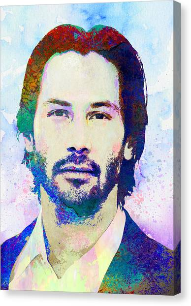 Keanu Reeves Canvas Print - Keanu Reeves by Elena Kosvincheva