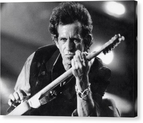 Flutes Canvas Print - Keith Richards by Super Lovely