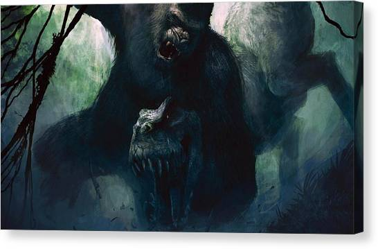 Gorillas Canvas Print - King Kong by Super Lovely