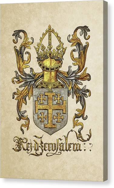 Supplies Canvas Print - Kingdom Of Jerusalem Coat Of Arms - Livro Do Armeiro-mor by Serge Averbukh