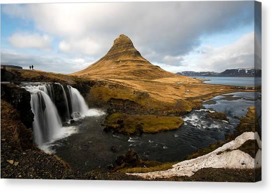 Kirkjufellsfoss Waterfalls Canvas Print