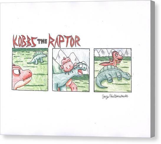 Kobbs The Raptor Canvas Print by Jayson Halberstadt