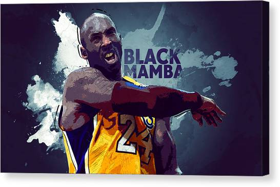Dwight Howard Canvas Print - Kobe Bryant by Semih Yurdabak