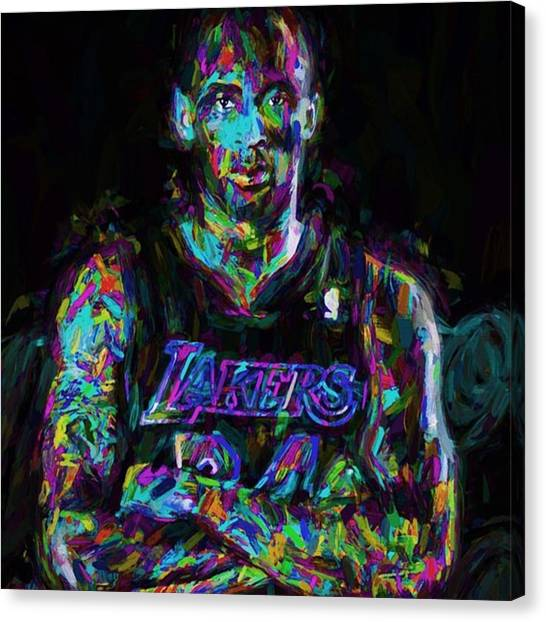 Basketball Canvas Print - Kobe The Golden Child Bryant Is by David Haskett II