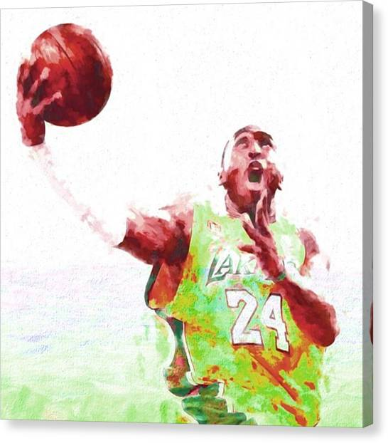 Basketball Canvas Print - @kobebryant #kobebryant #kobe @lakers by David Haskett II