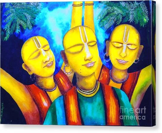 Krishna Conciousness Canvas Print by Pkr