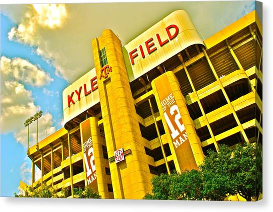 Texas A Canvas Print - Kyle Field Aggieland by Chuck Taylor
