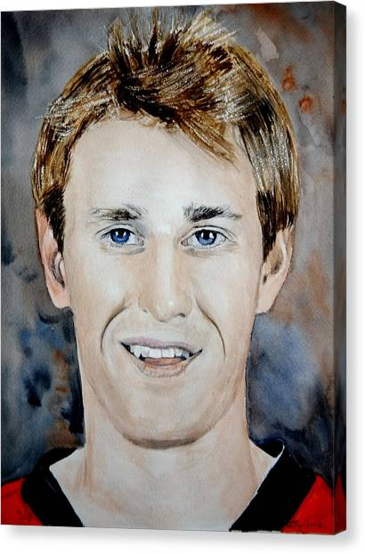 Ottawa Senators Canvas Print - Kyle Turris by Betty-Anne McDonald