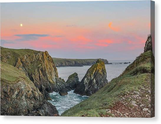 Colourful Canvas Print - Kynance Cove At Sunset  by Claire Whatley
