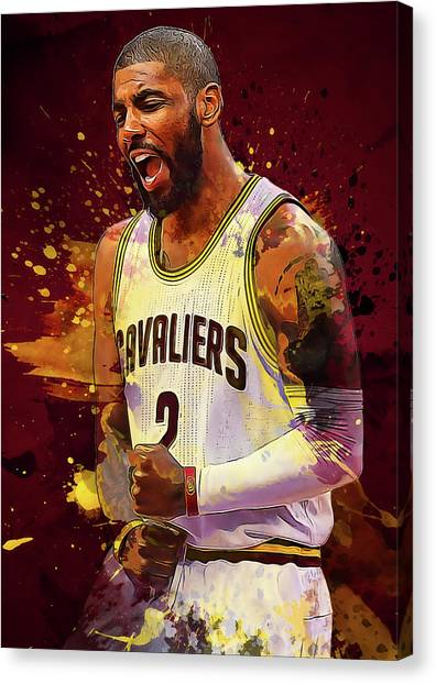 Kyrie Irving Canvas Print - Kyrie Irving by Semih Yurdabak