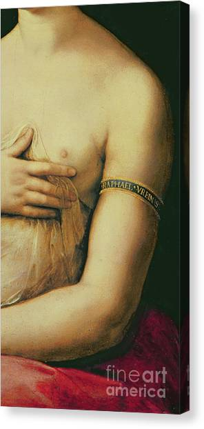 Nipples Canvas Print - La Fornarina by Raphael