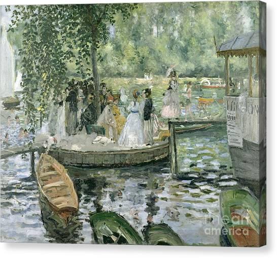 French Impressionist Canvas Print - La Grenouillere by Pierre Auguste Renoir