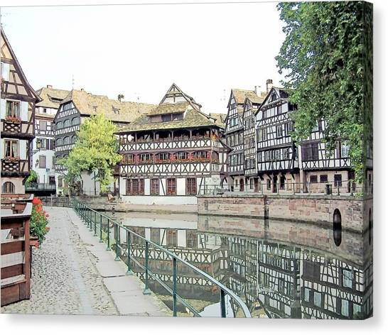 La Petite France Strasbourg France Color Pencil Canvas Print