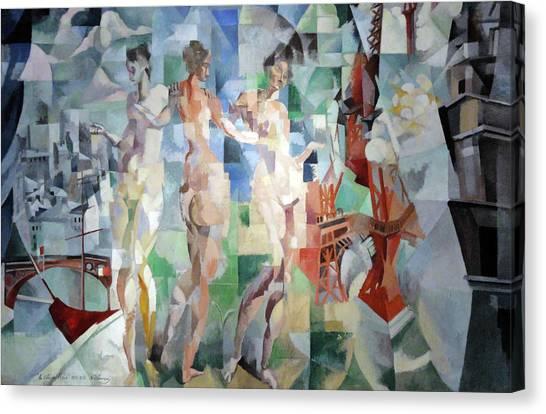 Lyrical Abstraction Canvas Print - La Ville De Paris by Robert Delaunay