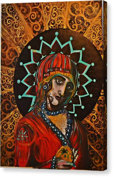Lady Of Spades Canvas Print