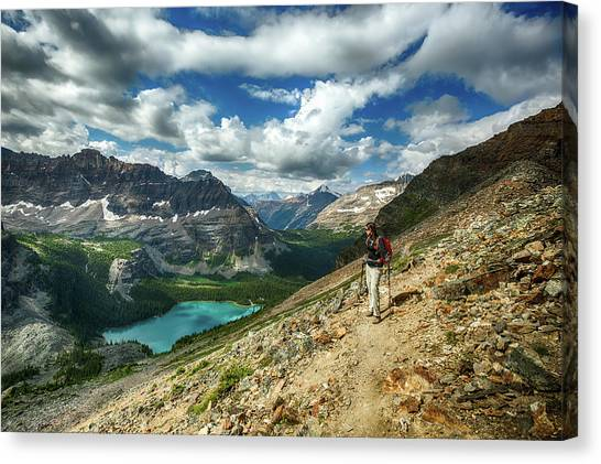 Lake O'hara Adventure Canvas Print