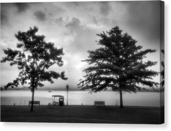 Lakeside Park I Canvas Print by Steven Ainsworth