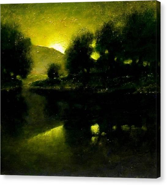 Canvas Print - Lakeside Sunset by Jim Gola