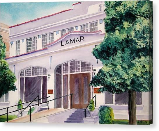 Lamar Bathhouse Canvas Print by John Keller