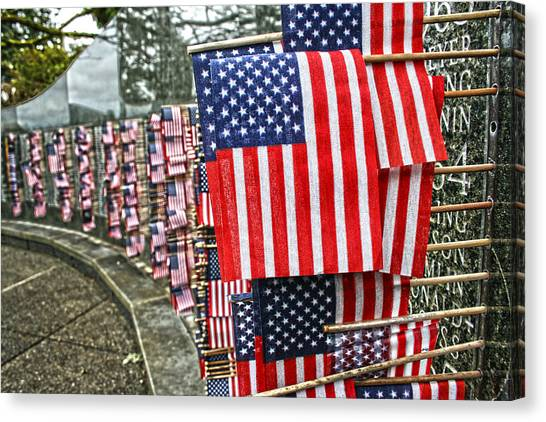 Land Of The Free Canvas Print by Kerry Langel