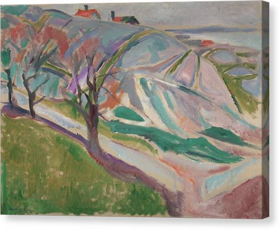 Munch Canvas Print - Landscape, Kragero by Edvard Munch