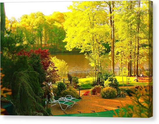 Landscaped Grounds Canvas Print