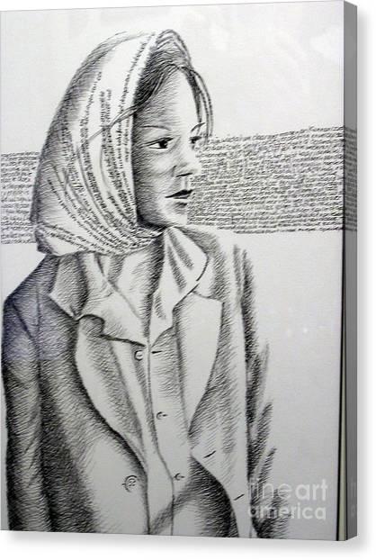 Language Of Cloth Canvas Print by Tanni Koens