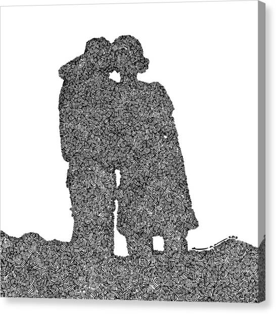 Lara And Felix Canvas Print by Karl Addison