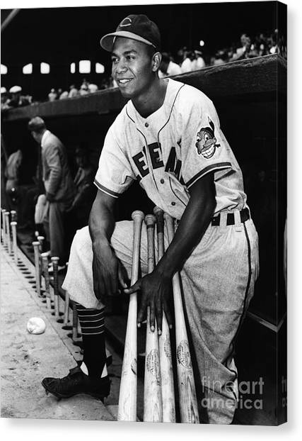 Cleveland Indians Canvas Print - Larry Doby (1923-2003) by Granger