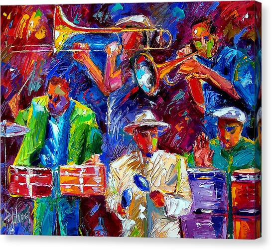 Salsa Canvas Print - Latin Jazz by Debra Hurd