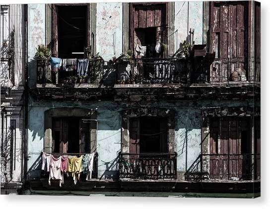 The Prado Canvas Print - Laundry Day In Havana by Mountain Dreams