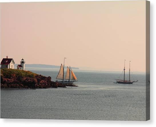 Leaving Camden Harbor Canvas Print
