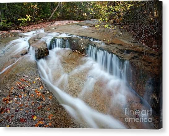 Canvas Print featuring the photograph Ledge Brook - White Mountains New Hampshire Usa by Erin Paul Donovan
