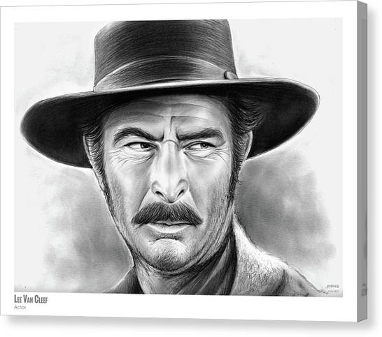 Spaghetti Canvas Print - Lee Van Cleef by Greg Joens
