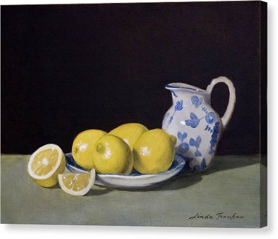 Lemon Cream Canvas Print
