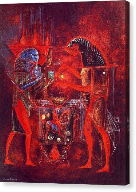Grunge Canvas Print - Leonora Carrington - Ordealof Owain by Ulrika Sun
