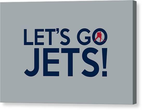 Winnipeg Jets Canvas Print - Let's Go Jets by Florian Rodarte