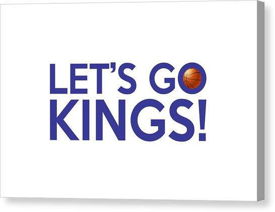 Sacramento Kings Canvas Print - Let's Go Kings by Florian Rodarte