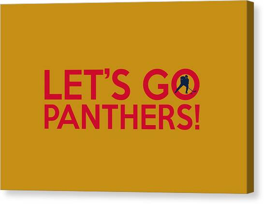 Florida Panthers Canvas Print - Let's Go Panthers by Florian Rodarte